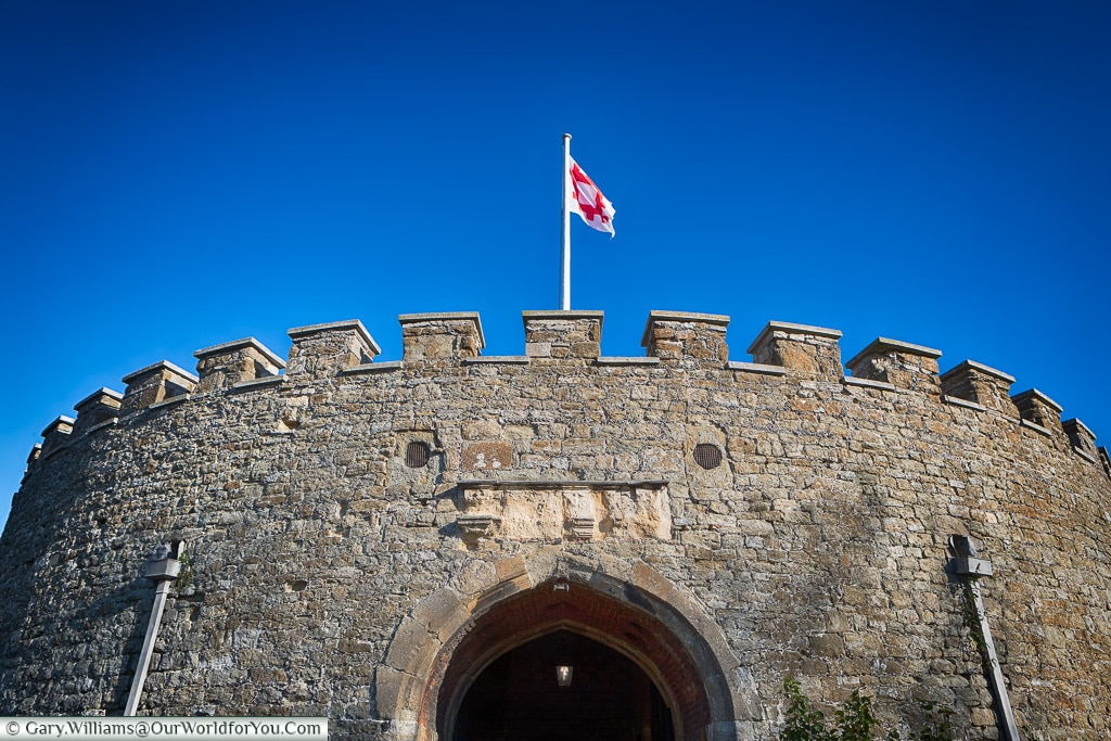 The entrance to the Keep, Deal Castle, Kent, England, UK