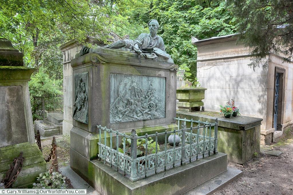 The grave of Théodore Géricault, Père Lachaise Cemetery, Paris, France