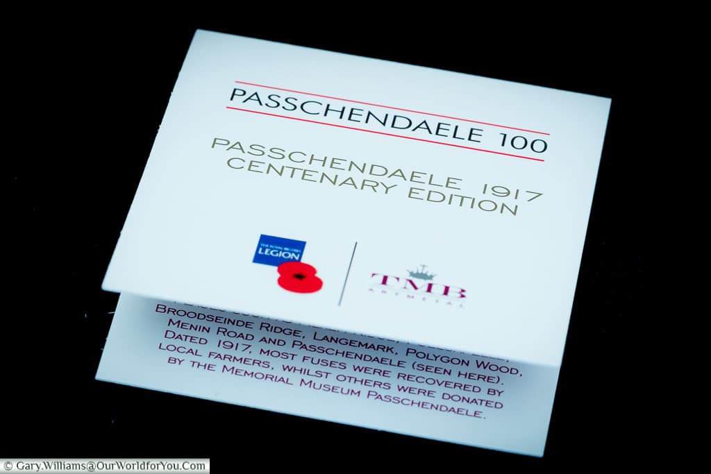 The leaflet that comes with the Passchendaele Pins