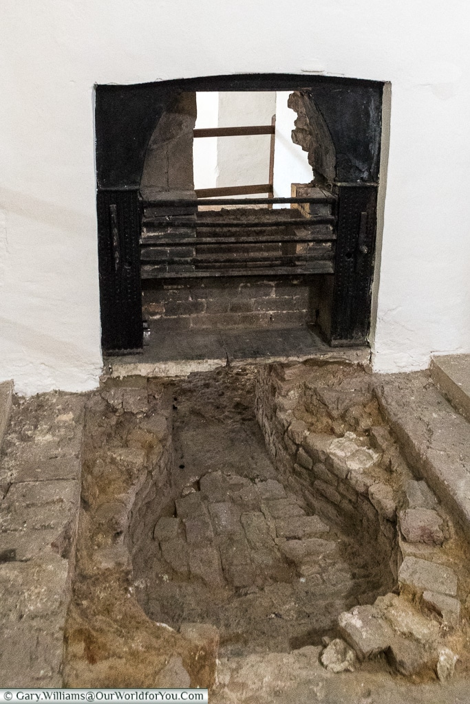 The remains of the fireplace, Deal, Kent, England, UK
