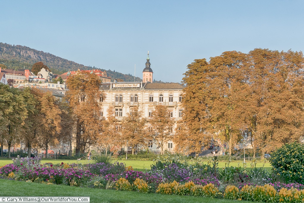 A view over the gardens, Baden-Baden, Germany