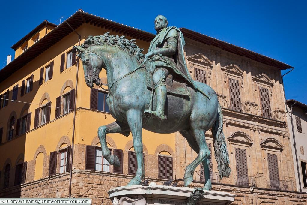 Equestrian Monument of Cosimo I, Florence, Tuscany, Italy
