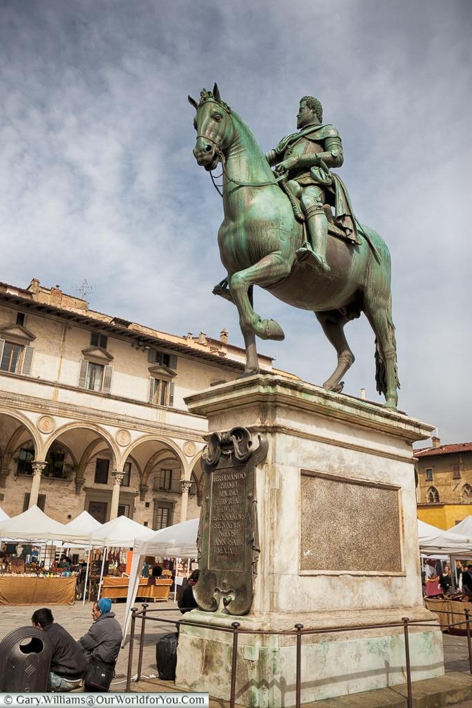 Equestrian Monument of Ferdinando I, Florence, Tuscany, Italy