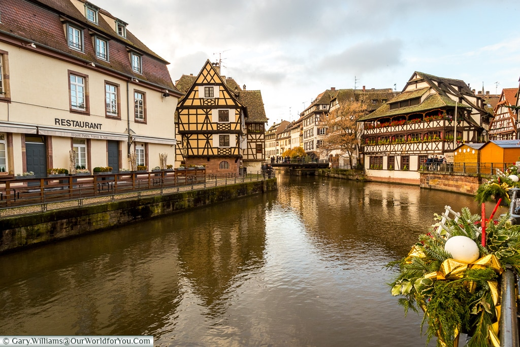 Looking over Petit France, Strasbourg, France