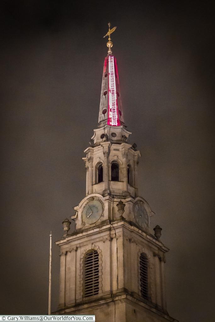Echelle - The pink ladder, Lumiere London, London, England, UK