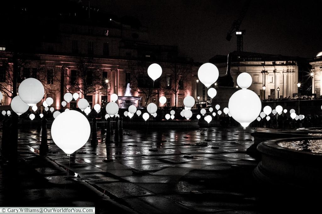 Illuninations around the square, Lumiere London, London, England, UK