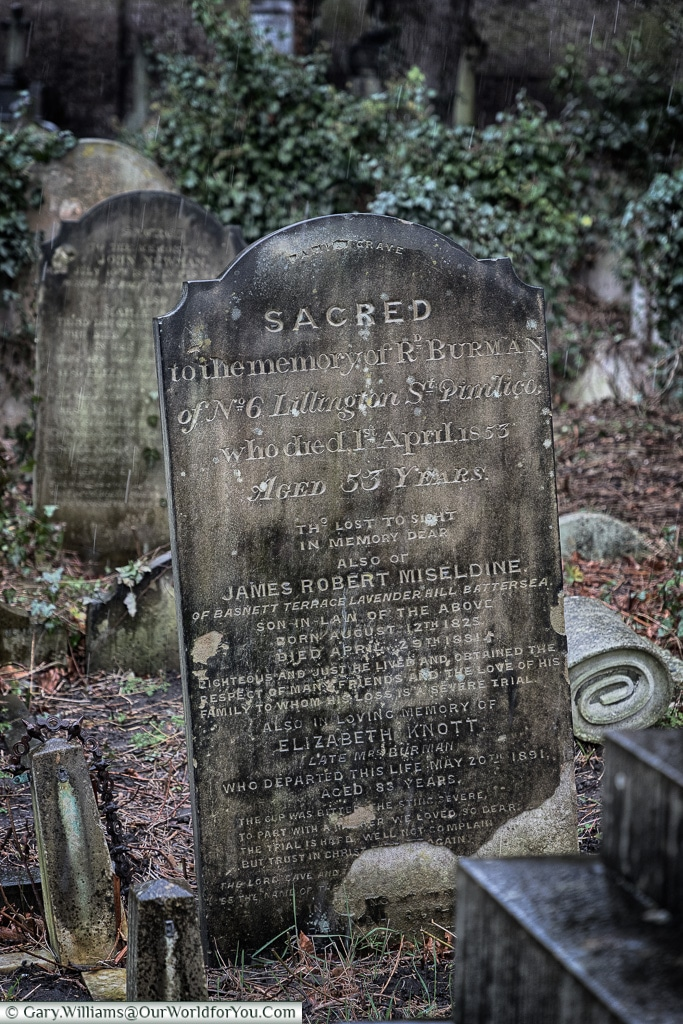 Sacred places, Brompton Cemetery, London, England, UK