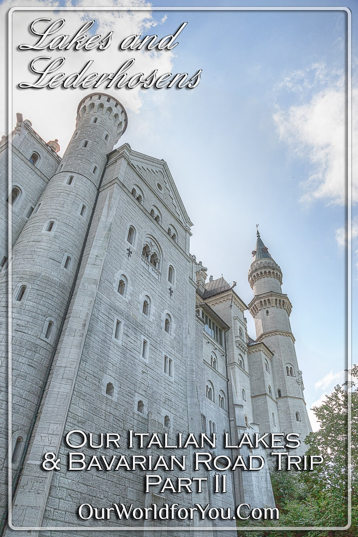 The Ping image for our post - 'Lakes and Lederhosens – Our Italian lakes and Bavarian Road Trip Part 2'