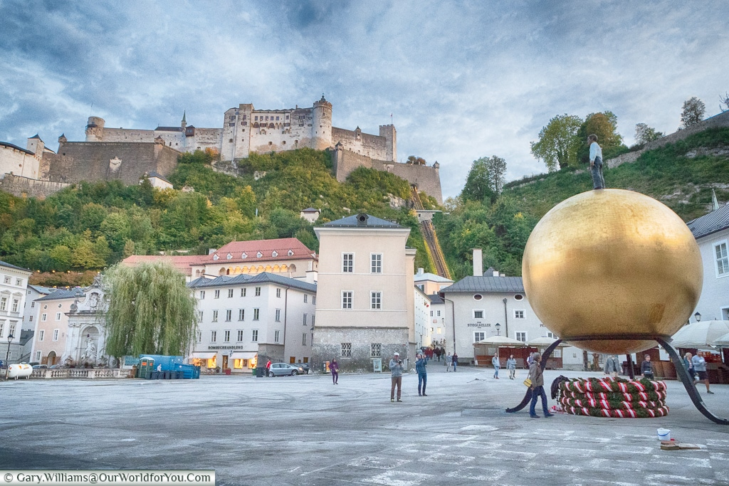 The Castle from Kapitelplatz, Salzburg, Austria