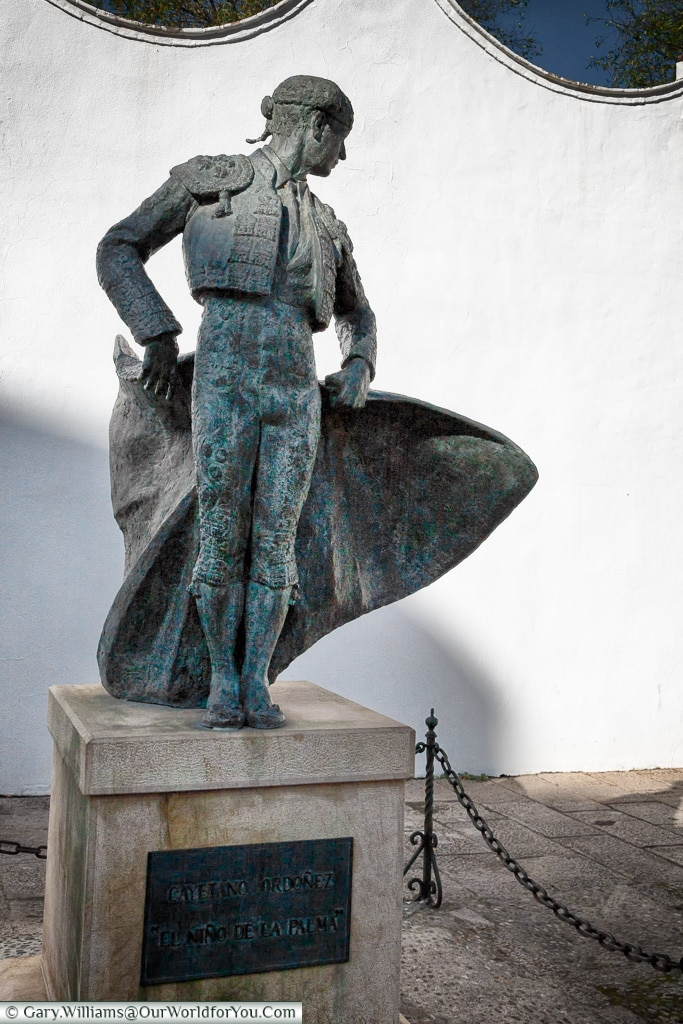 The statue to Cayetano Ordóñez, Ronda, Spain