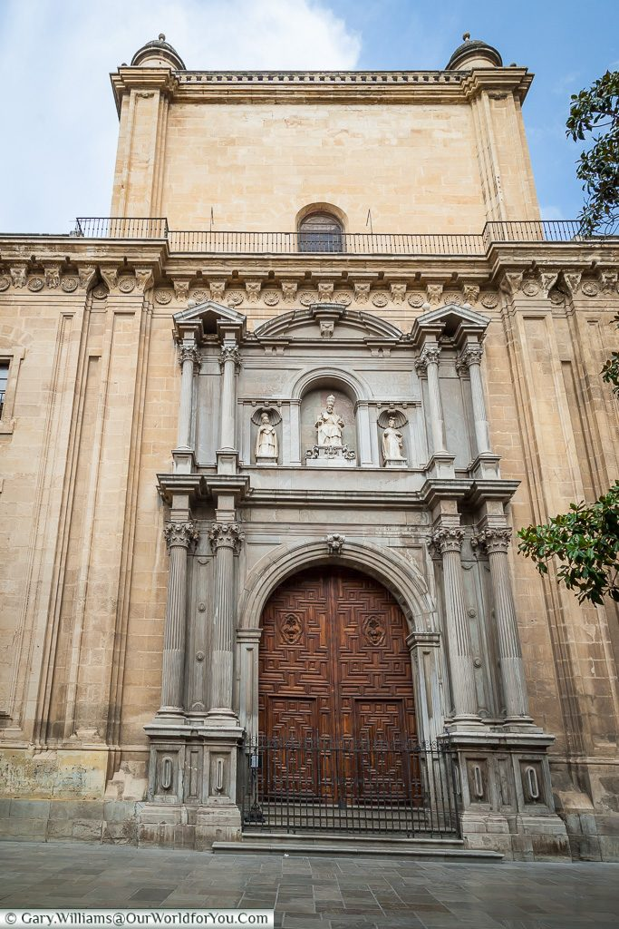 A door to the Cathedral, Granada, Spain