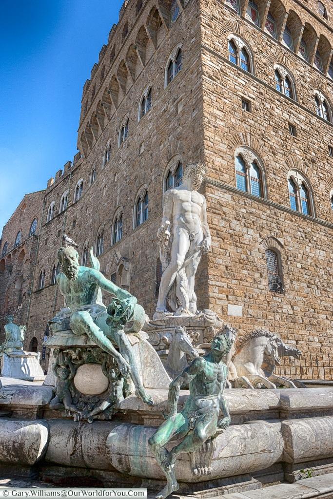 A fountain in Piazza della Signoria, Florence, Tuscany, Italy