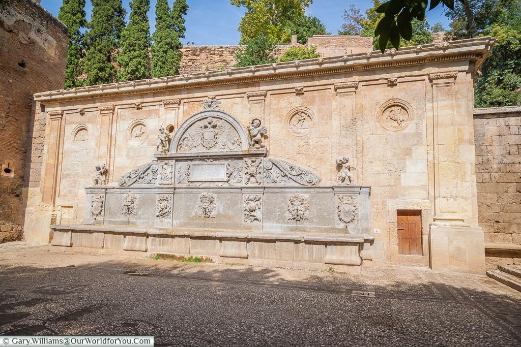 A grand fountain, Granada, Spain