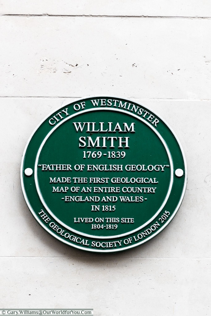A green plaque of the City of Westminster, Blue Plaques, London, England