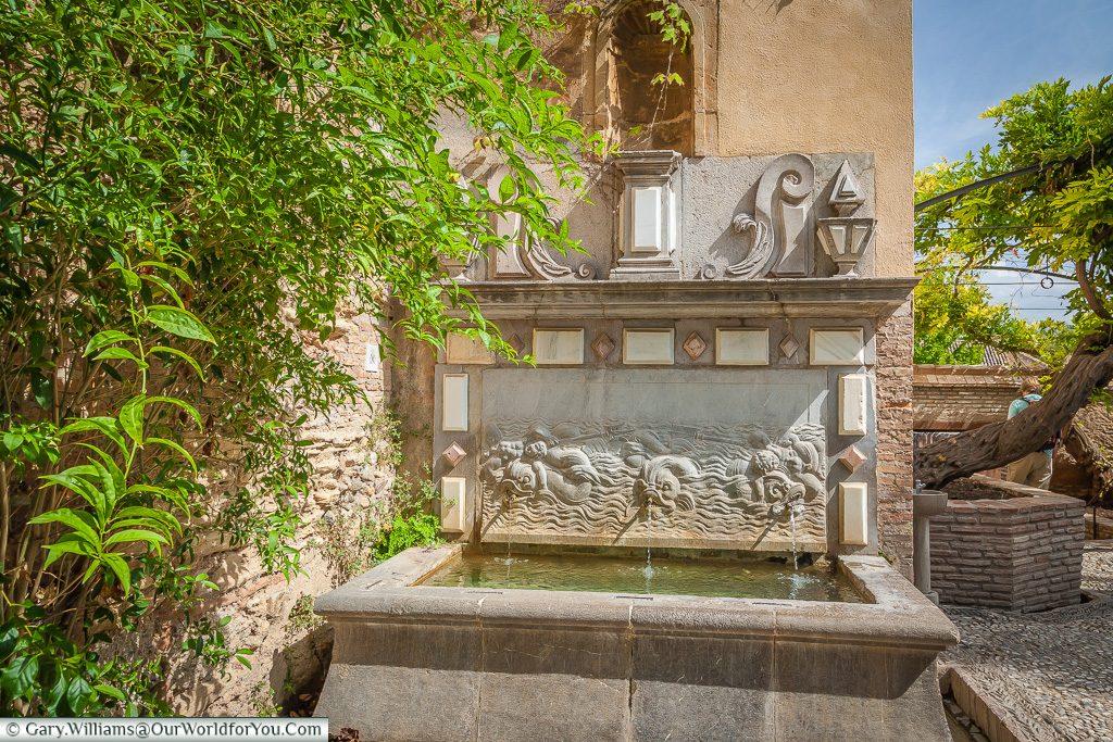 A little fountain in the Alhambra, Granada, Spain