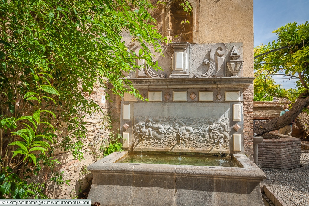A little fountain in the Alhambra, Granada, Spain