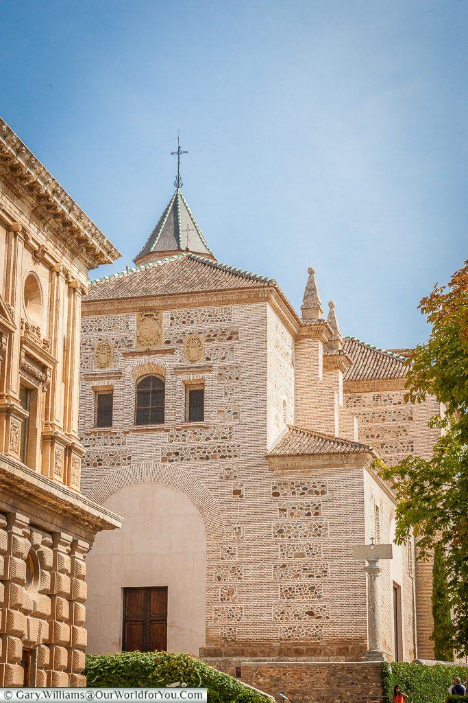 A view of Church of Santa Maria de la Alhambra, Granada, Spain