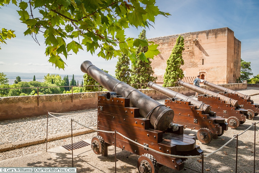 Cannons at the Alhambra, Granada, Spain