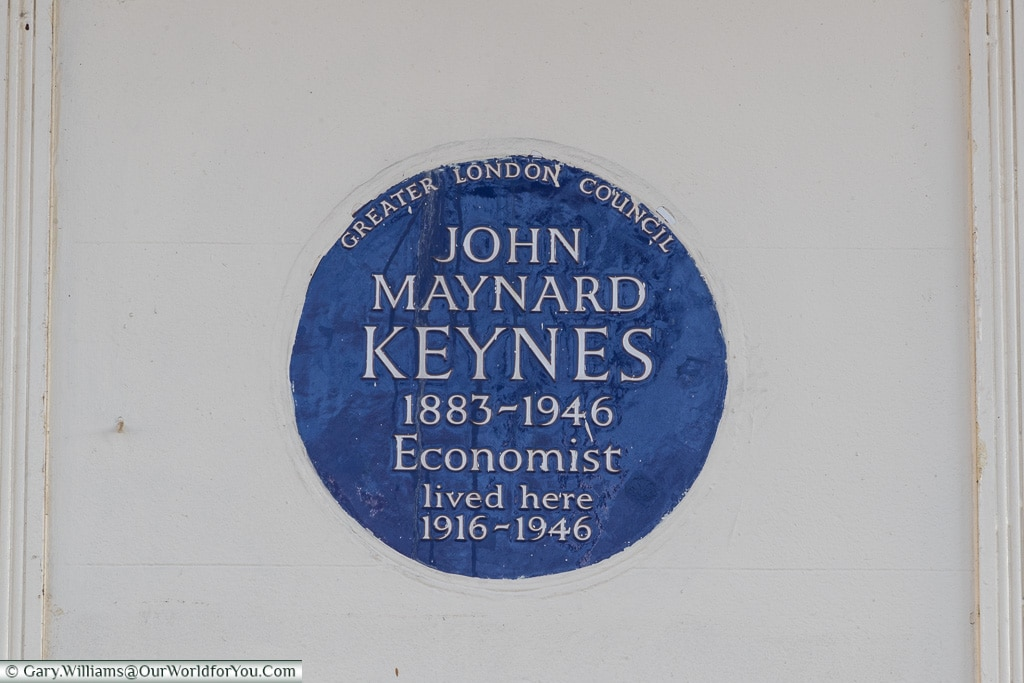 GLC plaque to John Maynard Keyes, Blue Plaques, London, England