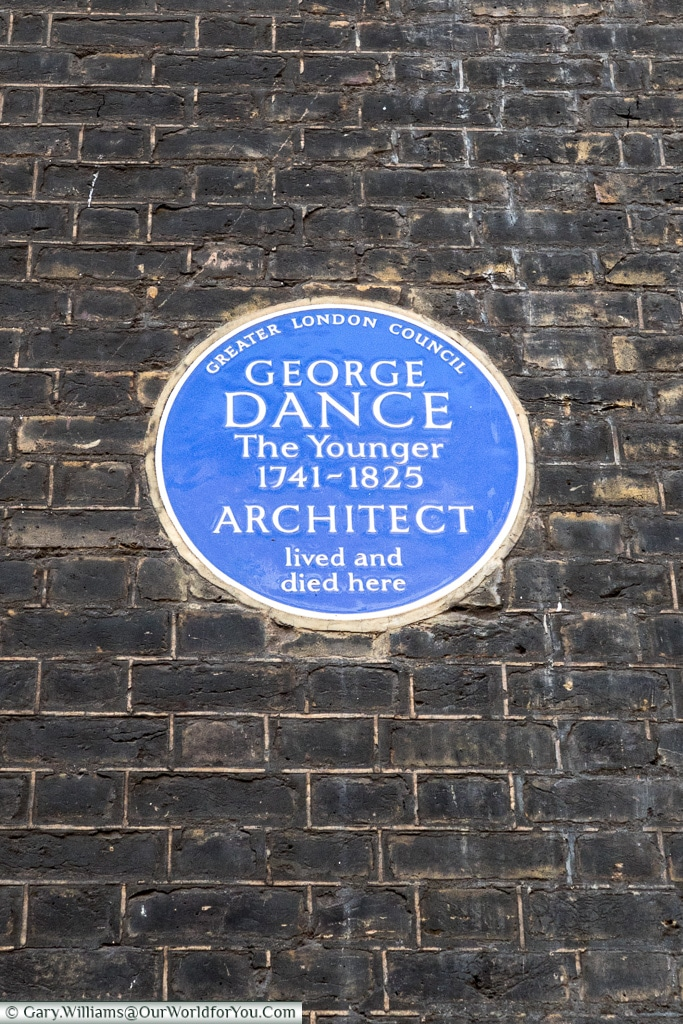 George Dance - The Younger, Blue Plaques, London, England
