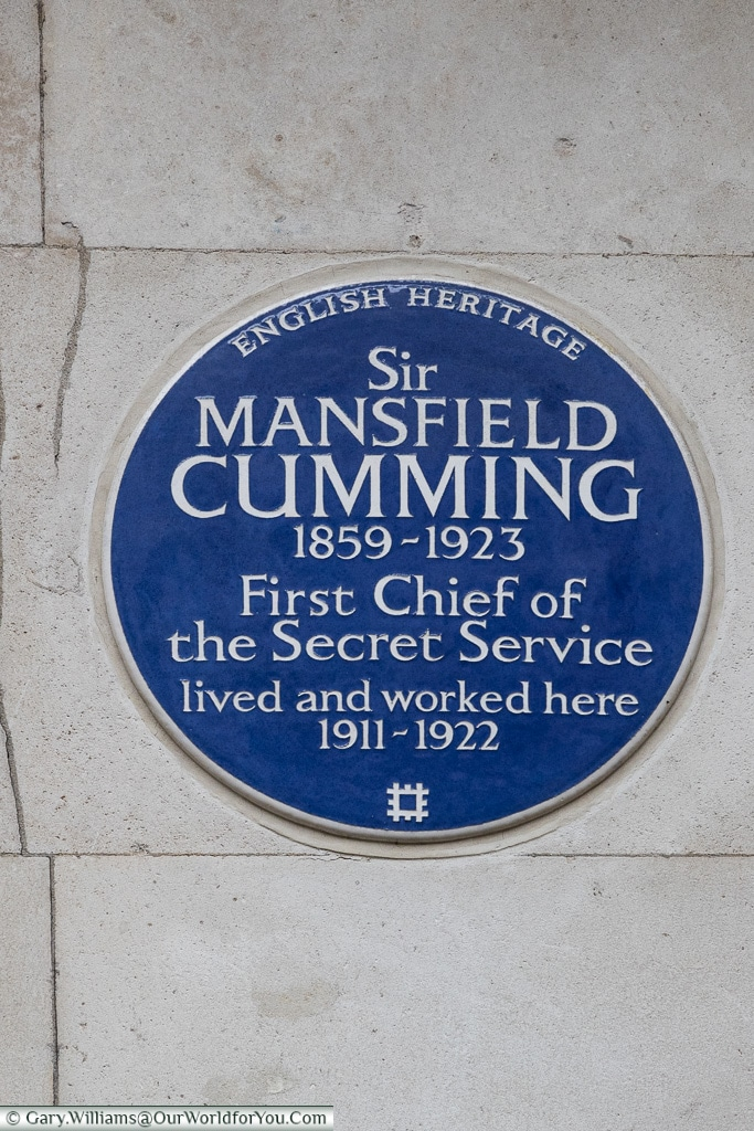 Is this M of James Bond fame?, Blue Plaques, London, England