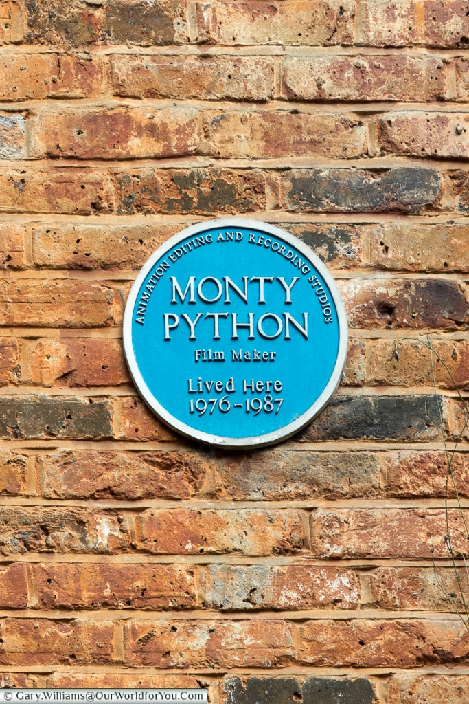 Monty Python?, Blue Plaques, London, England