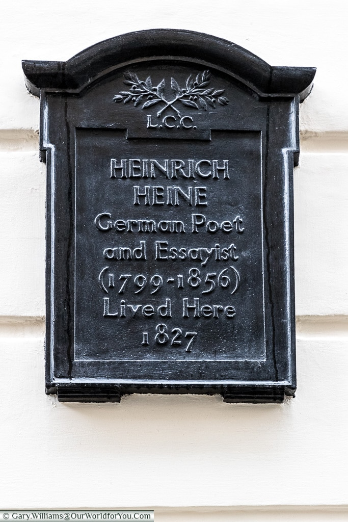 Not just the English recognised, Blue Plaques, London, England