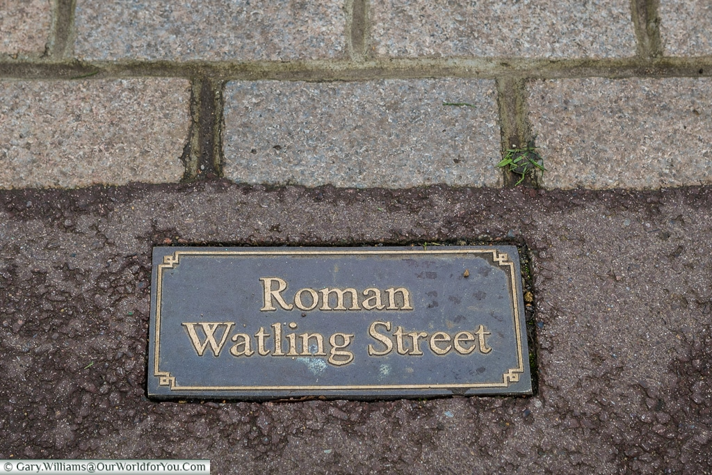 The Roman Watling Street, Canterbury, Kent, England, UK