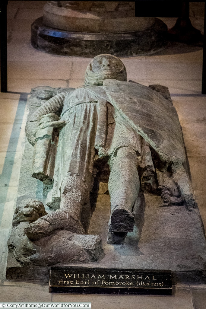 The Tomb of Knight William Marshal, Temple Church, London, England, UK