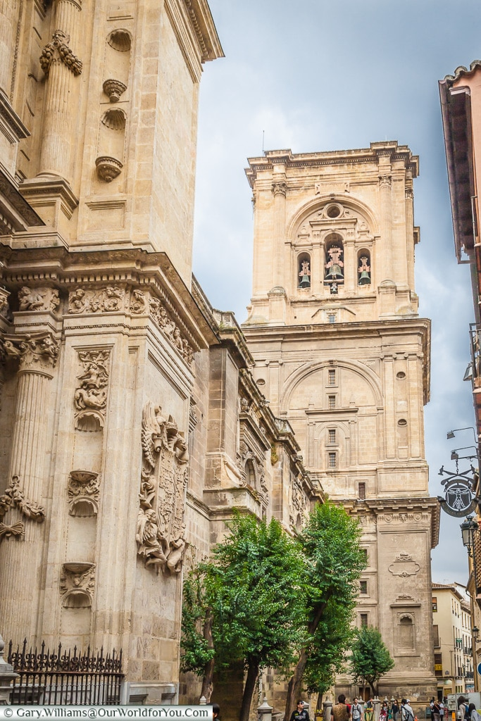 The bell tower of the Cathedral, Granada, Spain