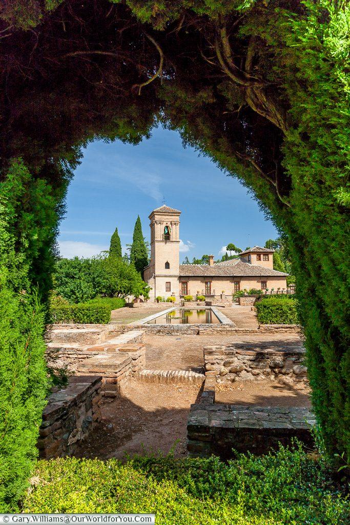 The framed Parador de Granada, Granada, Spain