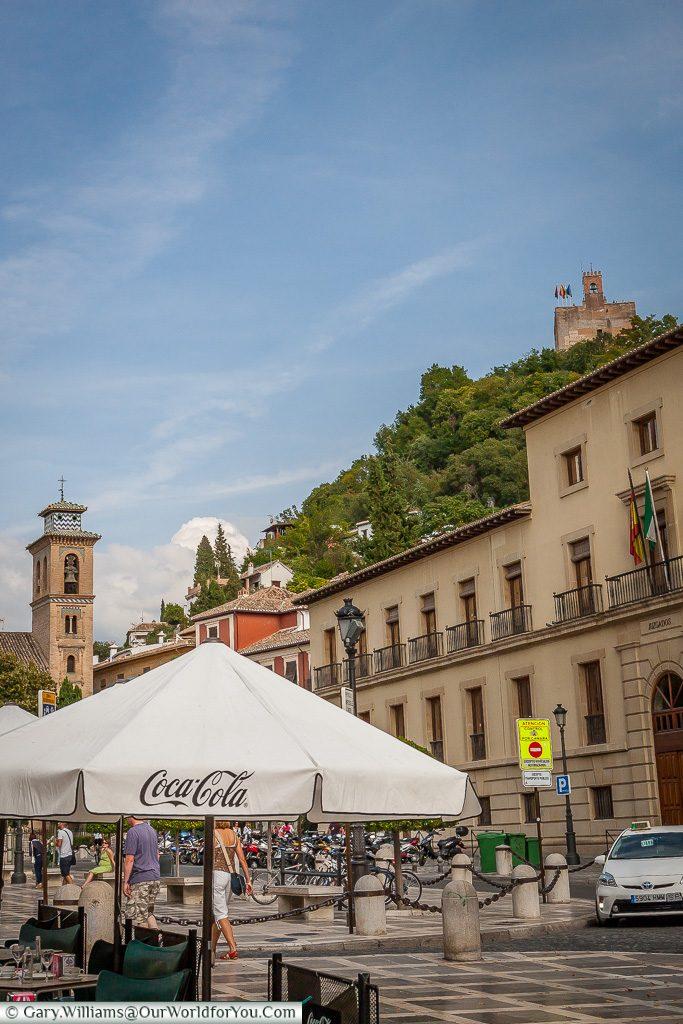 The view from Plaza Nueva, Granada, Spain