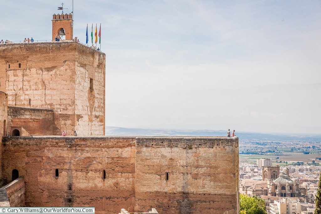 The viewpoint from the Alhambra, Granada, Spain