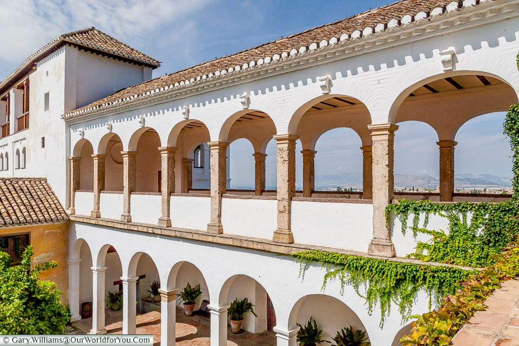 Whitewashed walkway, Granada, Spain