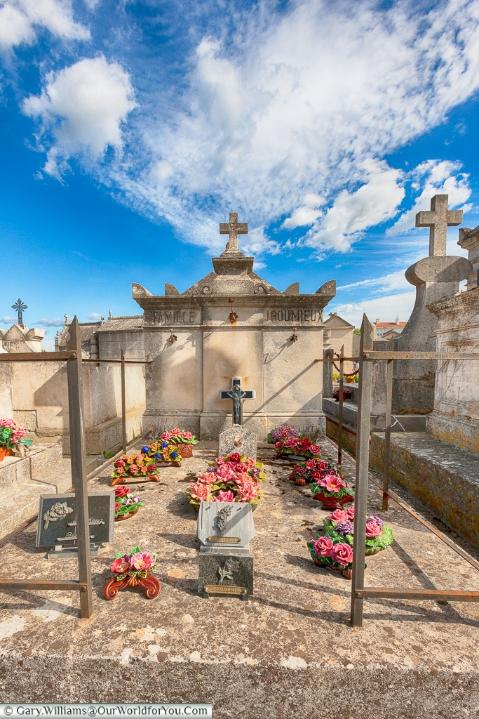 A family grave in the town cemetery,  Saint-Rémy-de-Provence, Provence, France