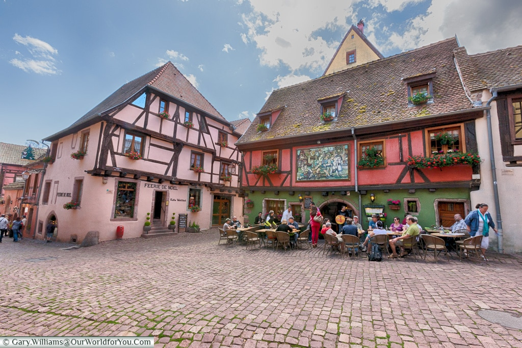 Relaxing in Riquewihr, Alsace, France