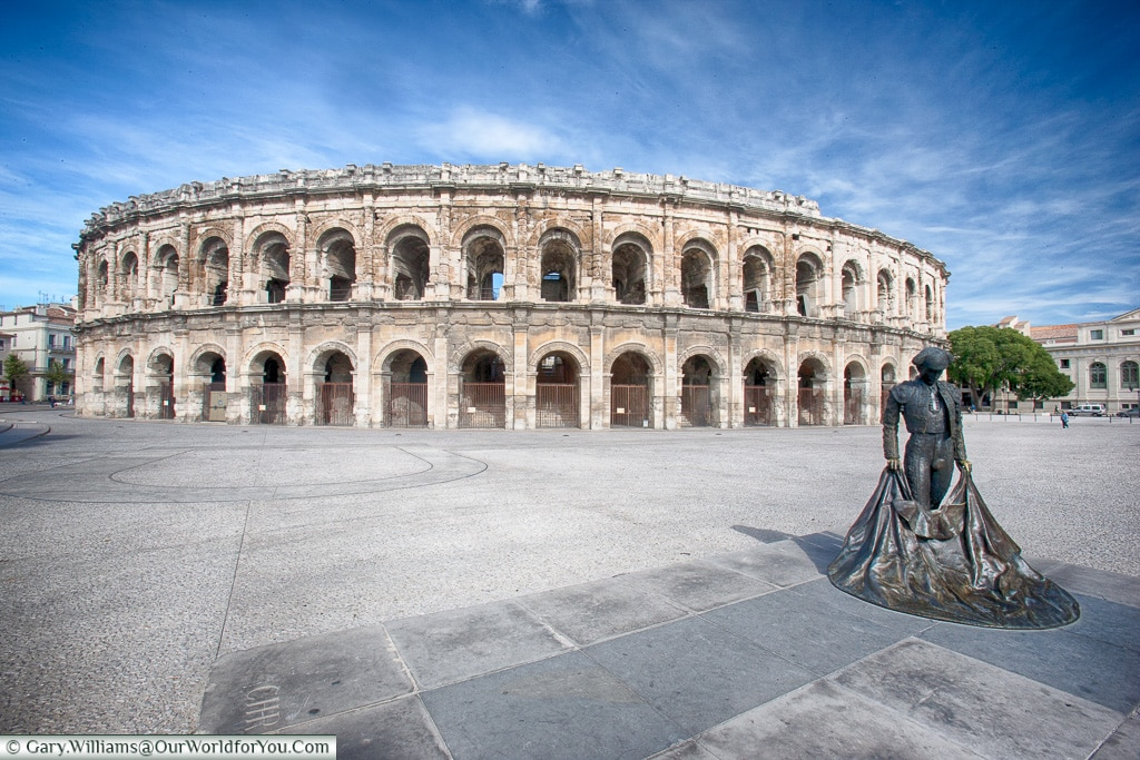 The Arènes de Nîmes, Nîmes, Provence, France