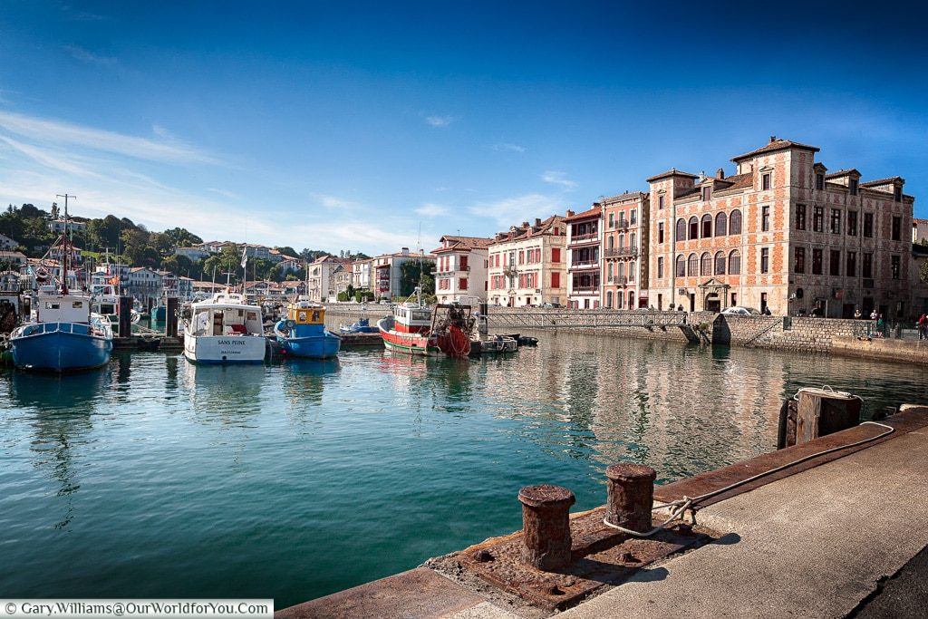 The harbour at Saint-Jean-de-Luz, France
