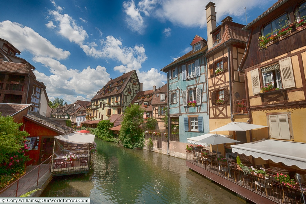 The pretty town of Colmar, Alsace, France