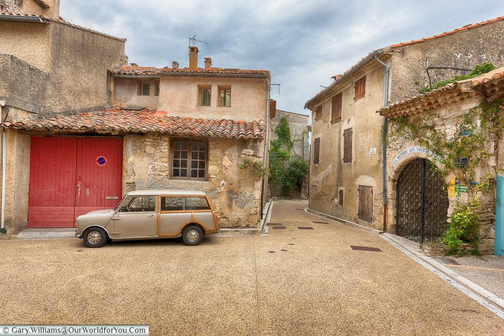 The quiet little town of Venasque, Provence, France