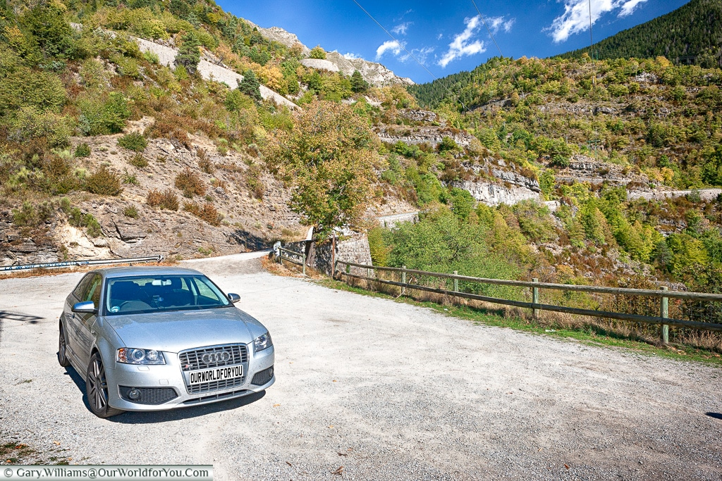 The silver Audi S3 in the south of France