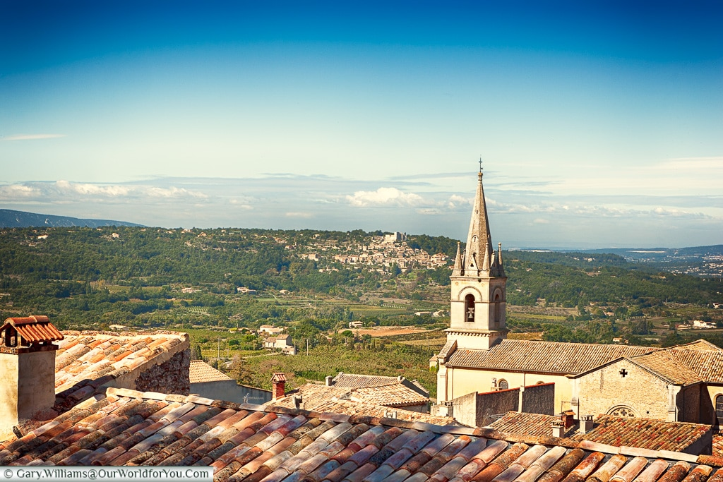 The view from Bonnieux, Provence, France