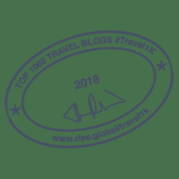 Top 1000 Travel Blogs Badge