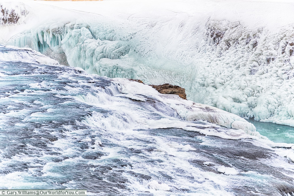 Gullfoss - the top of the falls, Iceland