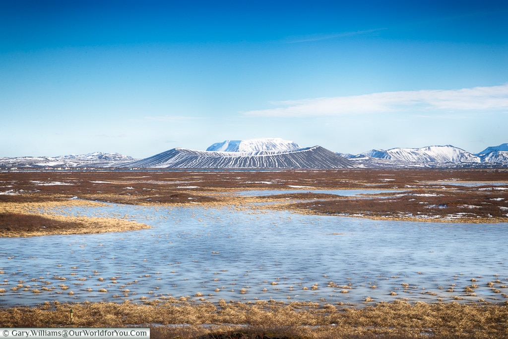 Hverfjall Crater from Lake Myvatn, Iceland