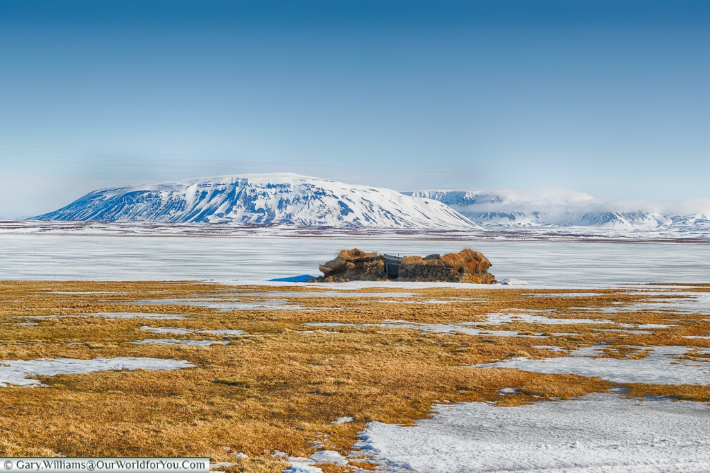 Looking across Svartárvatn lake, Iceland