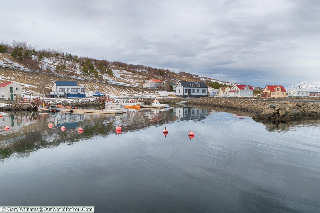 Looking across the harbour at Hjalteyri, Iceland