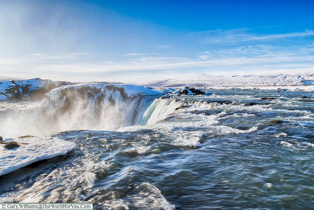 On top of Goðafoss, Iceland