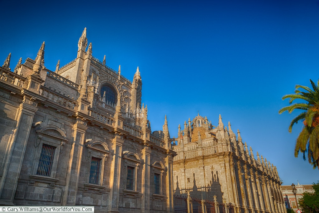 The Cathedral from the south, Seville Cathedral, Seville, Spain