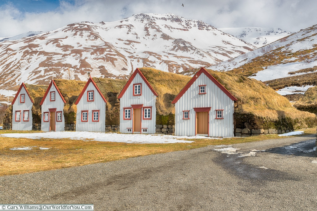 The Laufás ancient farmhouse just outside Grenivik, Iceland